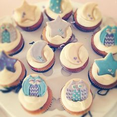 owl cupcakes baby shower