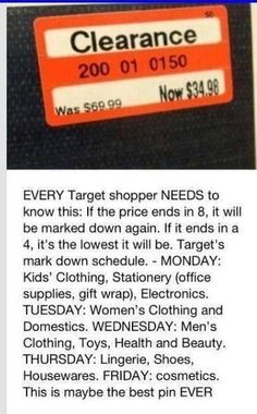 TARGET CODES MUST KNOW