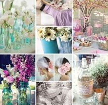 #5 color theme [tiffany blue/teal is the main color I am going for, with accents of pinks and plum colors] #modcloth #wedding