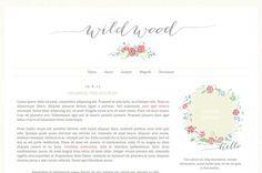 wildwood illustrated premade blog design template · elevatormusik blog design shop @ etsy