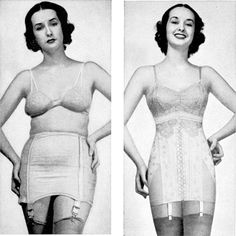 File:Spencer corset 1941 before after.jpg - I am the girl on the left!