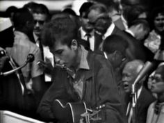 """SAY IT LOUD...Bob Dylan @ The March On Washington. Immediately preceeding King's 1963 """"I Have a Dream"""" speech BOB DYLAN PERFORMED """"Only a Pawn in Their Game"""" a SONG about the MURDER of CIVIL RIGHTS WORKER MEDGAR EVERS."""