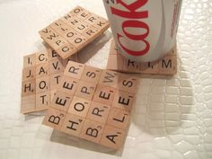 DIY Scrabble Coasters