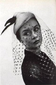 Hat by Maud Roser, photo by Georges Saad, 1951