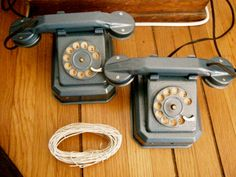 Two vintage 1950s walkie talkie metal children's by DlovelyDesigns, $50.00