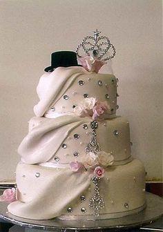 Top Hat and Tiara Wedding Cake