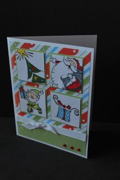 CTMH Christmas card using Believe papers