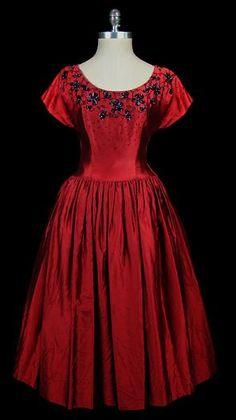 Dress  Charles James for Elizabeth Arden, 1940s via The Frock