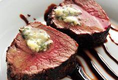 Beef Tenderloin Roast with Zinfandel Reduction and Herbed Butter
