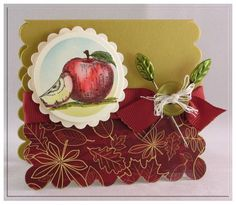 Card designed by Carolina Buchting for Gina K. Designs using the Grateful Heart StampTV Kit - Harvest of Wishes mini set