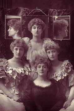 The Misses Dene, c.1893. Dorothy Dene, on the left, was the muse of Lord Leighton. She is the model for many of his paintings, including the gorgeous Flaming June. #Victorian #women #vintage #portraits