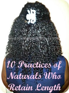 Grow Long Natural Hair: Habits for Length Retention | Curly Nikki | Natural Hair Styles and Natural Hair Care