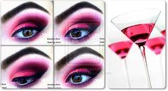 cosmopolitan cocktail, eye makeup, mondays, makeup inspir, pink, eyeshadow eyemakeup, photo galleries, cocktails, cosmo eye