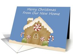 Gingerbread House New Address Christmas Card | Greeting Card Universe by Free Spirit Designs