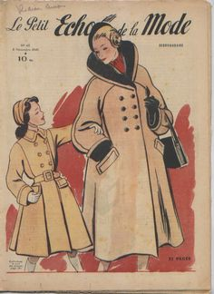intage french magazine, Le Petit Echo de la Mode, november 6, 1949