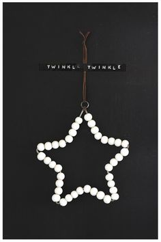 Wire and wooden painted beads, glass or pearls shape anyway you'd like - great homemade ornament idea.  Annixen.: LITE NYA STJÄRNOR.