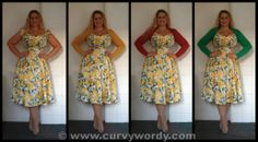 Collectif Dolores Doll Yellow Summer Bouquet Print Dress size Medium 12 http://www.curvywordy.com/2014/06/collectif-dolores-doll-yellow-summer.html