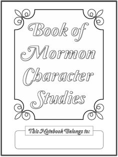 Book of Mormon Character Study Notebooking Pages | Scribd