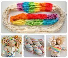 Dyeing rainbow yarn