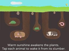 Vivaldi's The Four Seasons iPad app for kids - lets kids explore the change of seasons to a beautiful soundtrack.