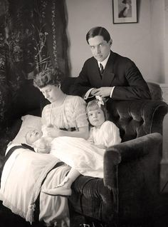 Ulysses S. Grant III with his newborn son