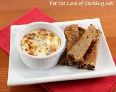 Parmesan and Tomato Baked Egg with Toast Sliders - For breakfast after Girls Movie Night slumber parties