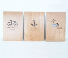 Cardtutorial Greeting Cards made of wood