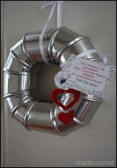A Little Love for the Tin Man wreath