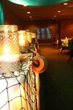 Fishing themed wedding decor