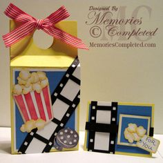 Cute boxes tutorial  Great idea for a movie themed party