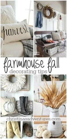fixer upper style farmhouse fall decorating tips - so many easy ways to???