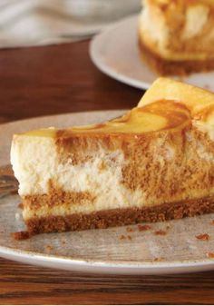 Dulce de Leche Swirl Cheesecake -- How to make cheesecake recipe even more delicious? Swirl in a can of dulce de leche, the sweet and creamy Mexican caramel spread.
