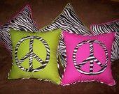 Zebra peace pillow