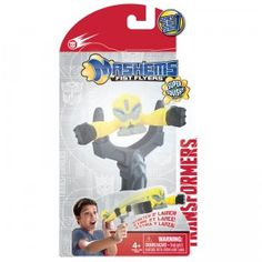 Slingshot some squishy, mini collectible Transformers into the air up to 25 feet with the Transformers Prime Mash'ems Fist Flyers.
