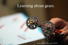 Learning about gears with LEGO® bricks from Spell Outloud