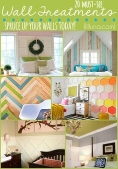 20 MUST-SEE Wall Treatments. Great round up on { lilluna.com }
