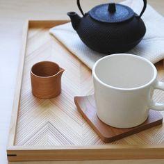 #wood #warm #tray #tea #modern