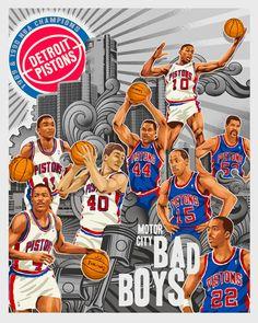 Detroit Pistons 'Bad Boys' My favorite squad!