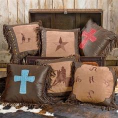 western pillows, pillow collect