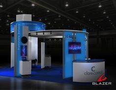 Clarecontrol Booth Design by Blazer Exhibits & Events #tradeshowbooth #tradeshow #design