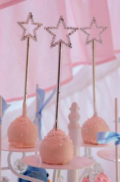 Princess Cinderella Girl Birthday Party Cake Pops! Via Kara's Party Ideas #princessparty #cakepops #ideas