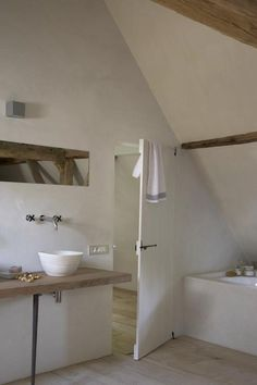 simple rustic stylish bathroom