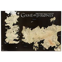 ThinkGeek :: Game of Thrones Poster Full World Map