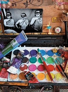 How to choose your paint for mixed media painting.