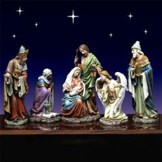 "Nativity Set with Angel by Josephs Studio 16""-Beautifully crafted  6 piece Nativity Set with Kneeling Angel from Joseph's Studio. Nativity includes the Holy Family, Three Kings and the Angel. http://www.christmasnightinc.com/c49/c50/Nativity-Set-with-Angel-by-Josephs-Studio-16-p1254.html#"