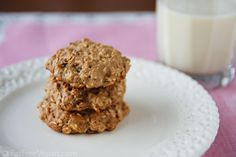 Banana-Maple Oatmeal Cookies - delicious, low-fat, and #vegan
