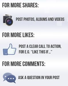Shares, Likes and Comments on #Facebook