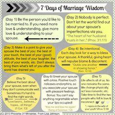 7 Days of Marriage Wisdom :: Proverbs31Ministries :: www.club31women.com