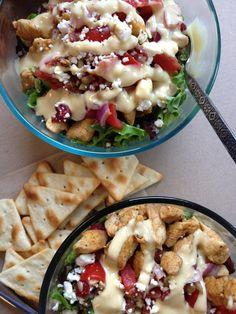Skinny Grilled Chicken BLT Salad