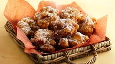 Apple Cinnamon Fritters; also supposed be good glazed or coated in cinnamon sugar